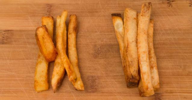 khoai tây chiên bằng nồi chiên không dầu