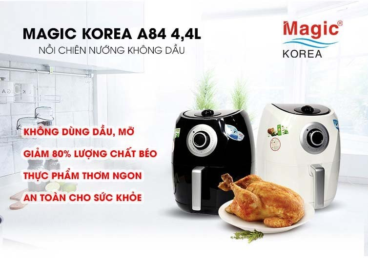 Nồi chiên không dầu Magic Korea A-84 Trắng